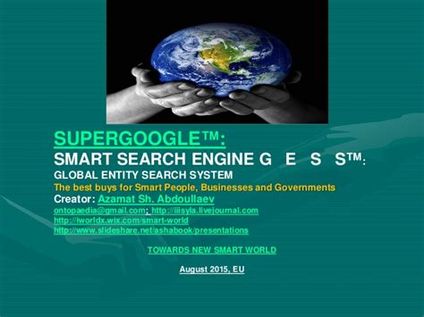 Smart Search Engine Supergoogle Gess Intelligent Search Engine For Smart Web X 0