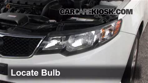 2013 Kia Forte Headlight Bulb Headlight Change 2010 2013 Kia Forte 2010 Kia Forte Ex 2
