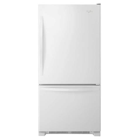 whirlpool 33 in w 22 1 cu ft bottom freezer