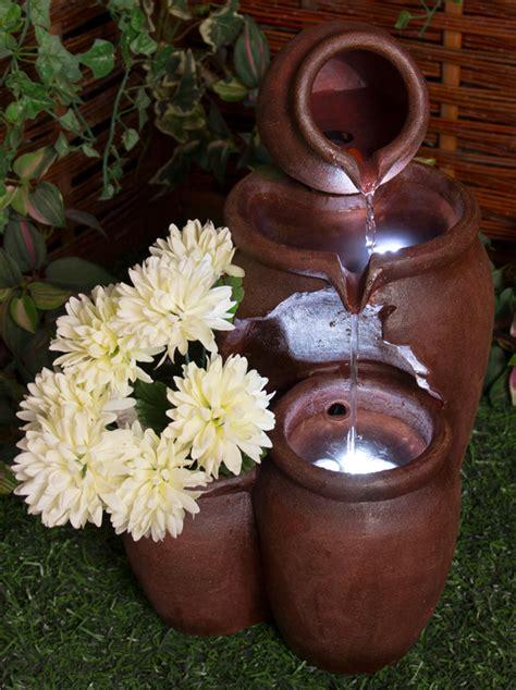 vasi miele fontana con vasi da miele a tre livelli e fioriera 50cm