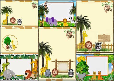 Pop Up Frame Birthday Tema Gunung the jungle free printable invitations labels or