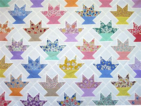Flower Basket Quilt Pattern by Cactus Basket Quilt Top Q Is For Quilter