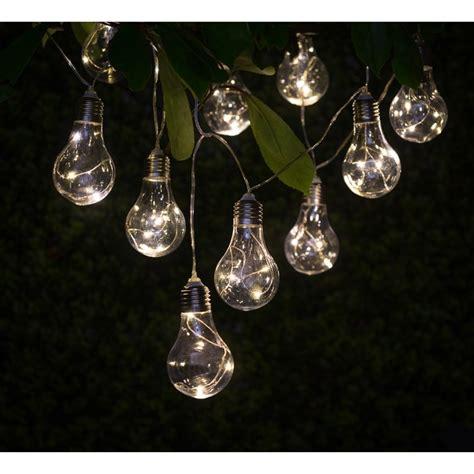 Solar Light Bulb String Lights 10pk Garden Lights B M Home Bargains Lights