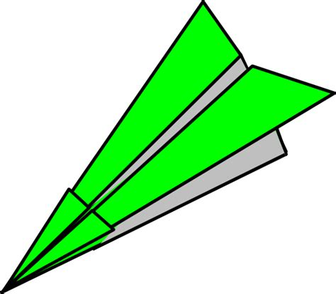 Paper Airplane - green paper plane clip at clker vector clip