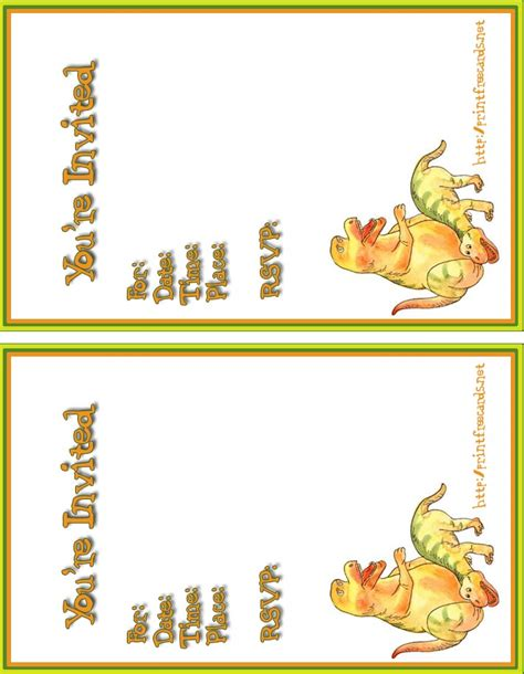 printable dinosaur invitation cards free invitations with dinosaurs free printable invitation