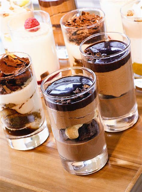 chocolate desserts in glasses chocolate pinterest