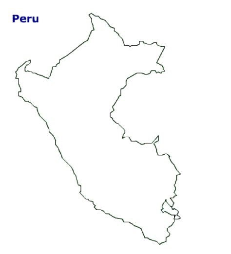 coloring page map of peru geography blog peru outline maps