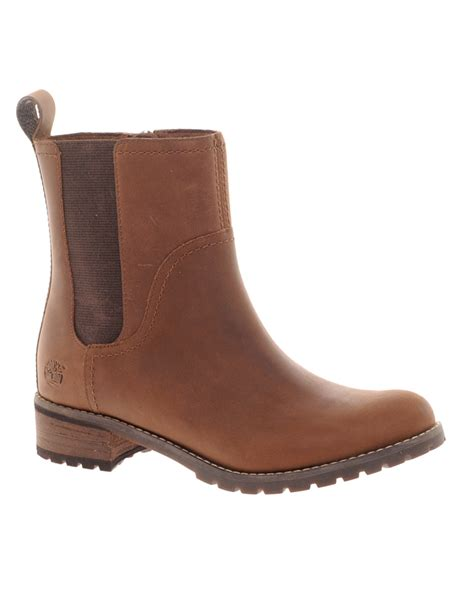 timberland ankle boots for timberland bethel chelsea ankle boots in brown lyst