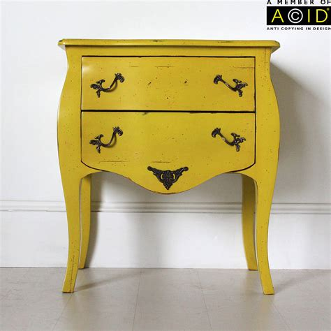 Yellow Bedside Table Two Drawer Bedside Table By Out There Interiors Notonthehighstreet