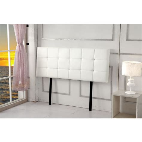 white leather headboard double double size tufted pu leather headboard in white buy