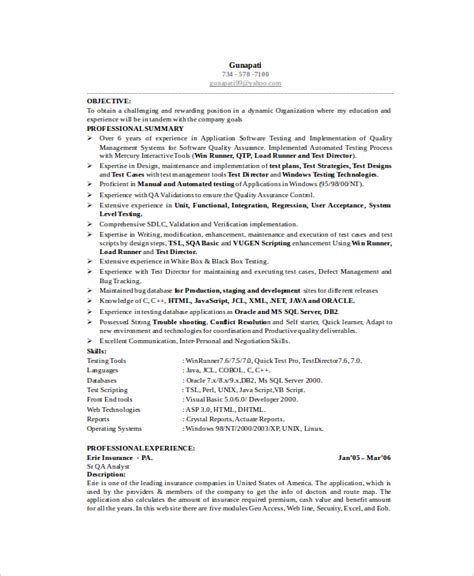 test engineer resume template software engineer resume template 6 free word pdf