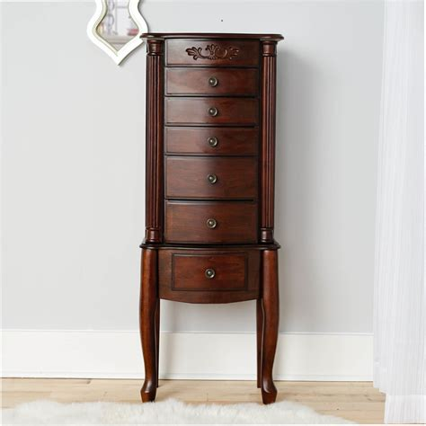walnut jewelry armoire morgan jewelry armoire dark walnut hives and honey