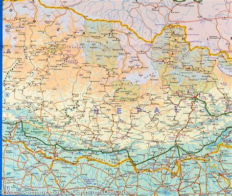 0004490967 carte routiere indian subcontinent carte de l himalaya itm la compagnie des cartes