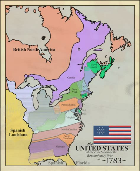 us map 1783 map of us of america in 1783 images