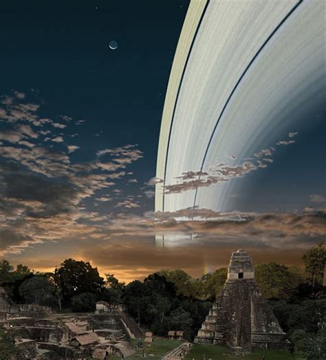 if the earth had rings like saturn what on earth would look like if earth had rings like