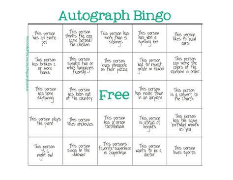 breaker bingo template latter day chatter seminary autograph bingo