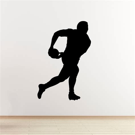 Rugby Wall Stickers rugby player wall sticker passing the ball sports wall art
