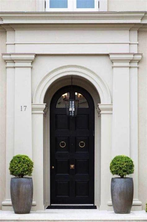 black front door white and black front door