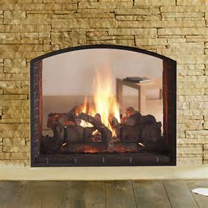see through fireplaces gas heat glo escape see through