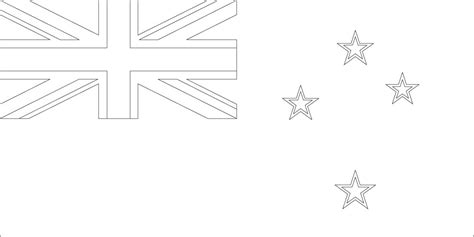 New Zealand Flag Coloring Page Geography Blog New Zealand Flag Coloring Page