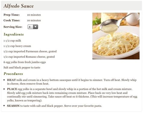 olive garden alfredo sauce recipe food sauces marinades dressings seasonings pinterest