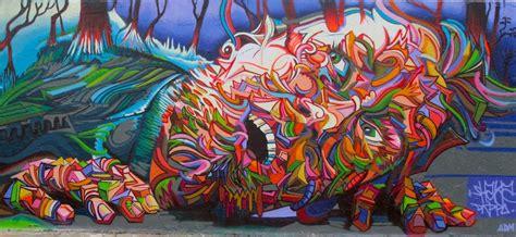 street art wonderful mural painting man  wild