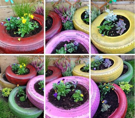 How To Make A Flower Garden How To Make A Flower Bed From Tyres Hibs100