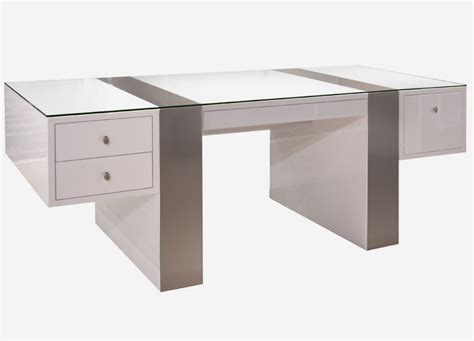 White Modern Desks Modern Desks White S005 Modern Office Desk White High Gloss Available For Purchase At