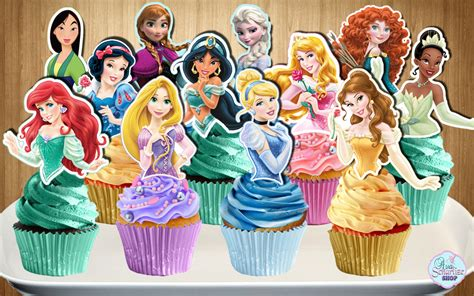 printable 12 mixed disney princess party cup cake toppers disney princess cupcake toppers 12 disney princesses cupcake