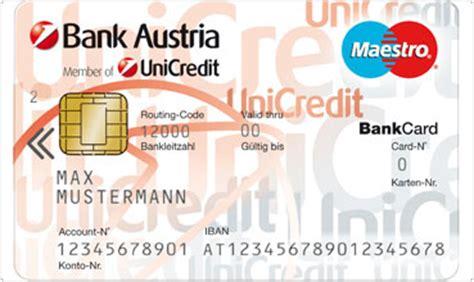blz bank austria bankomatkarte bank austria member of unicredit