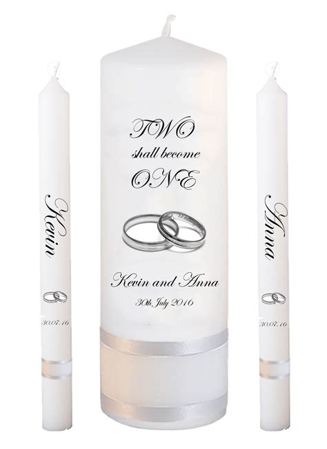 Wedding Font Ring by Wedding Candle Set Lighting Inscription Font 2 Silver