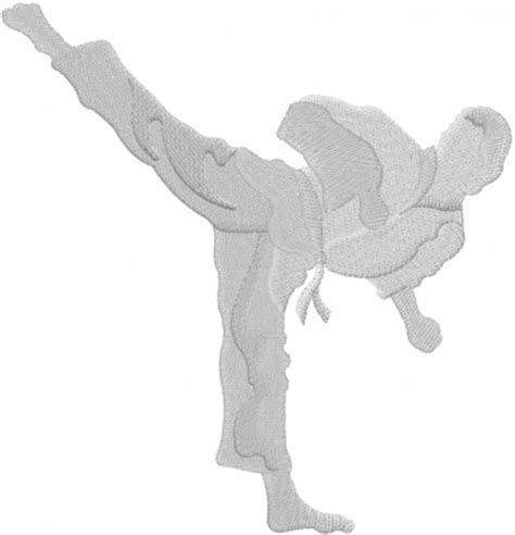 embroidery design karate sports embroidery design karate kick from machine