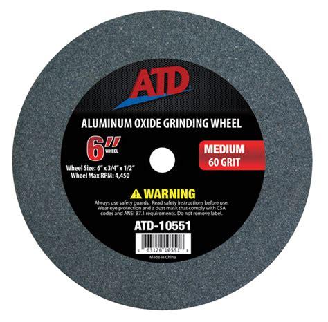 bench grinder wheel types atd 10551 6 quot medium grit grinding wheel atd tools inc