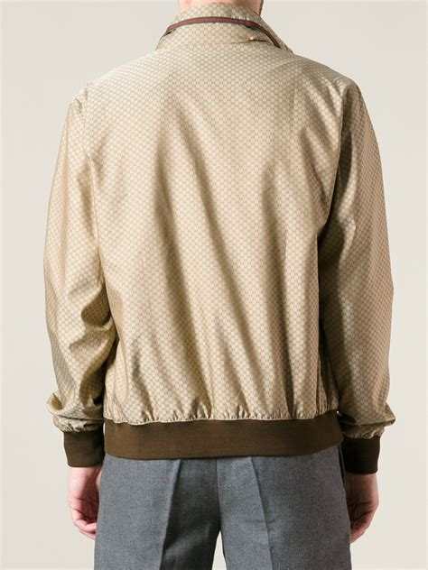 Gucci Jacket by Lyst Gucci Monogram Bomber Jacket In Brown For