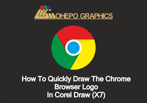 tutorial logo windows corel draw how to quickly draw the chrome browser logo in corel draw