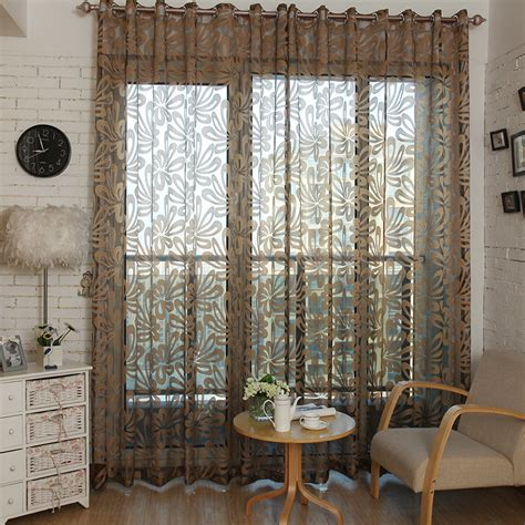 sheer kitchen window curtains aliexpress com buy 2015 modern shade tulle for windows