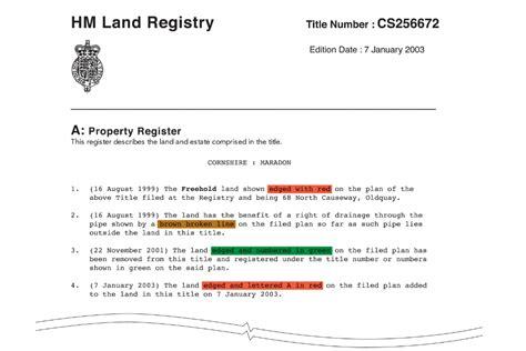 estate layout plan land registry hm land registry plans title plan practice guide 40