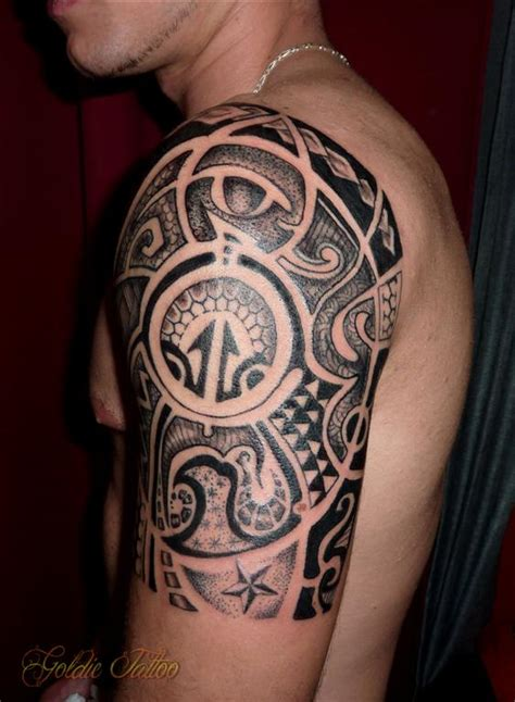 maori tribal goldie tattoo