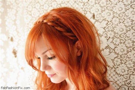 braided hairstyles red hair braided headband hairstyle tutorial fab fashion fix