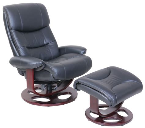 Recliner Chair And Ottoman Barcalounger Dawson Frton Black Leather Pedestal Recliner Chair And Ottoman Ebay