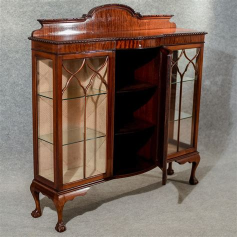 china cabinet display case antique display case china cabinet quality bow front