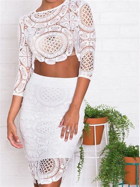 aliexpress buy 2015 persun white lace crop top and