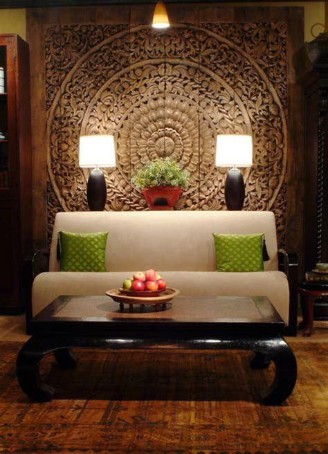 Asian Decorations For Home | thai inspired modern design asian living room