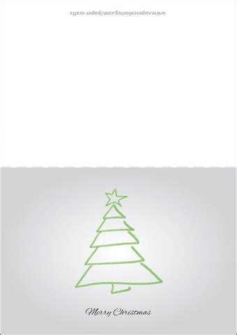 Card Tree Templates by Card With Tree Drawing Template Free