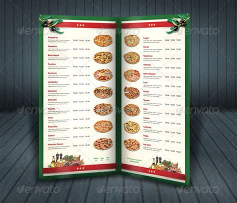 pizza menu design template 29 pizza menu templates free sle exle format