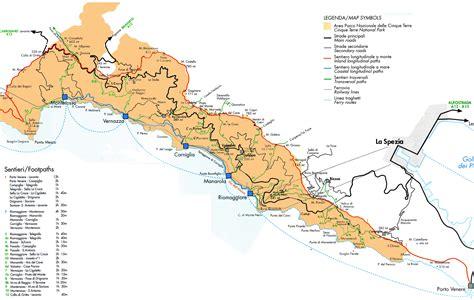 cinque terre italy map maps