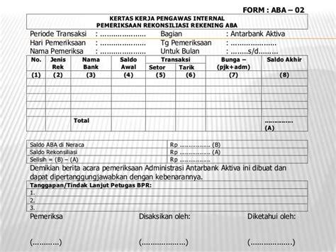 format berita acara cash opname kertas kerja program audit 1
