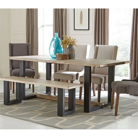 Dining Table Weathered Gray Coaster Dining Table In Weathered Gray 180181