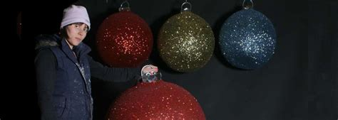christmas display baubles giant medium and small