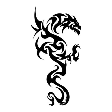black tribal dragon tattoo designs 40 black and white designs